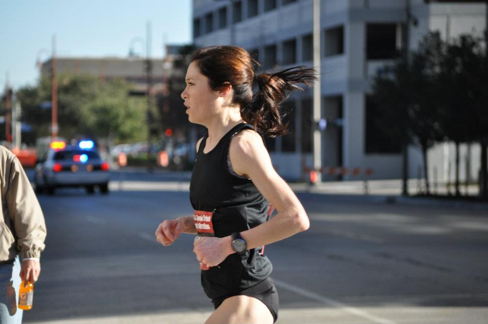 Me, running in the 2012 Olympic Trials.