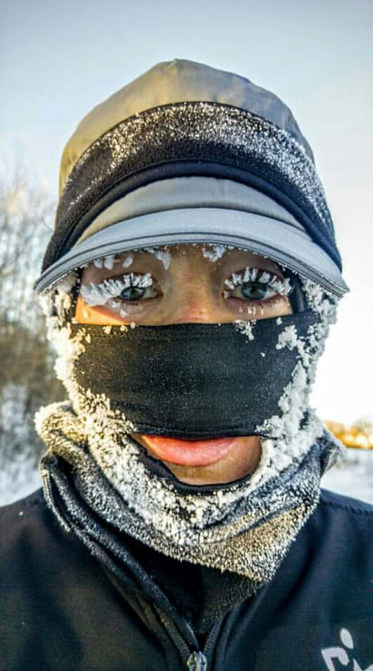 -10 degree 16 miles run