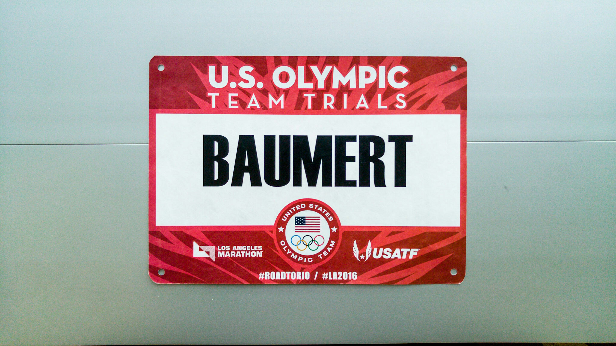 Olympic Trials bib
