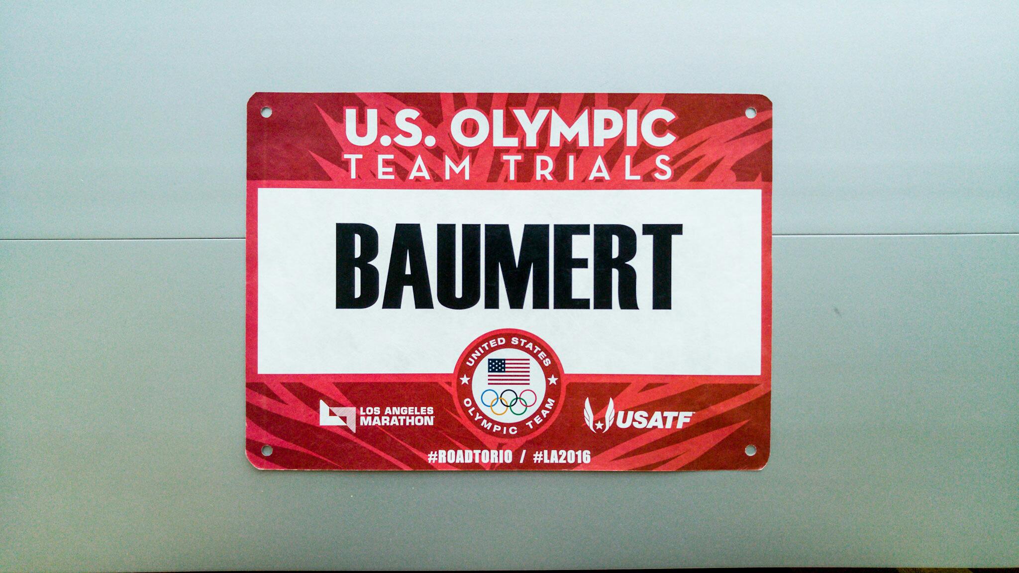 Olympic Trials bib