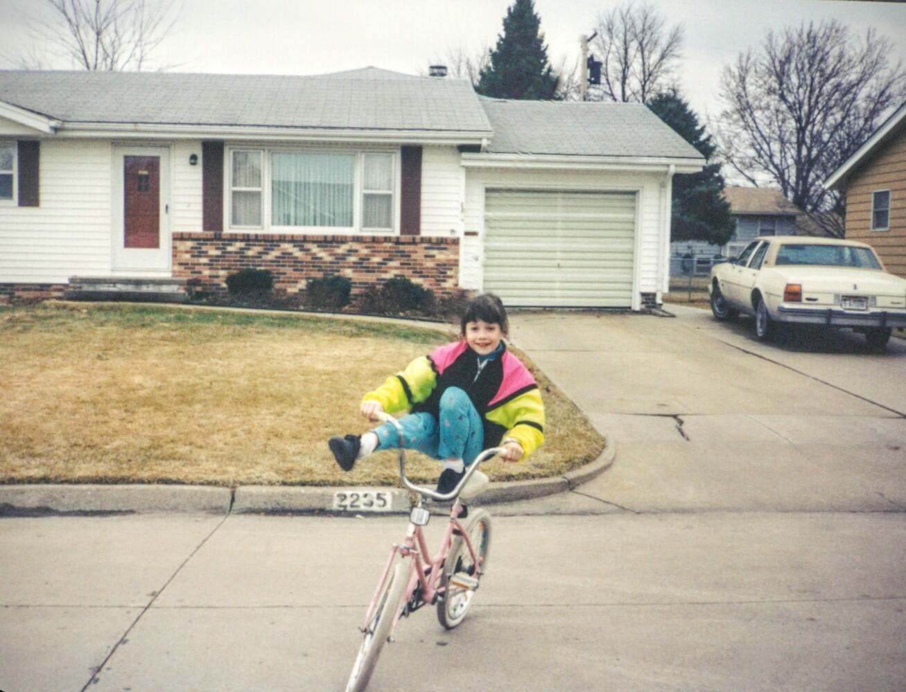 Little Lisa on a bike